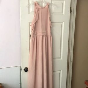 XXI Blush Halter Formal Gown